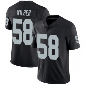 Youth Nike Las Vegas Raiders Kyle Wilber Black Team Color Vapor Untouchable Jersey - Limited