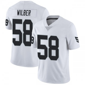 Youth Nike Las Vegas Raiders Kyle Wilber White Vapor Untouchable Jersey - Limited