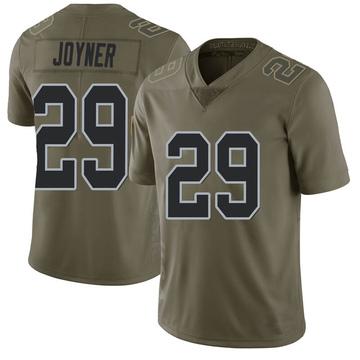 Youth Nike Las Vegas Raiders Lamarcus Joyner Green 2017 Salute to Service Jersey - Limited