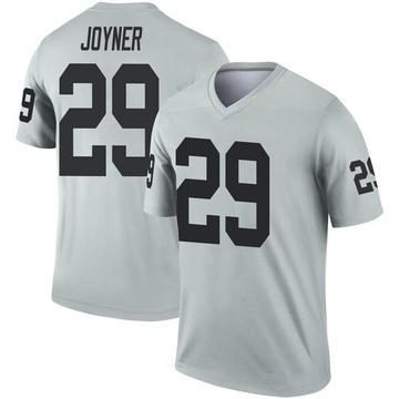Youth Nike Las Vegas Raiders Lamarcus Joyner Inverted Silver Jersey - Legend