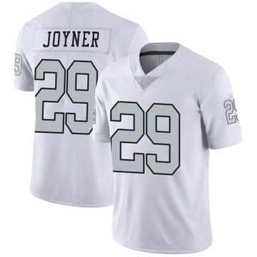 Youth Nike Las Vegas Raiders Lamarcus Joyner White Color Rush Jersey - Limited