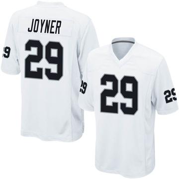 Youth Nike Las Vegas Raiders Lamarcus Joyner White Jersey - Game