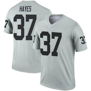 Youth Nike Las Vegas Raiders Lester Hayes Inverted Silver Jersey - Legend