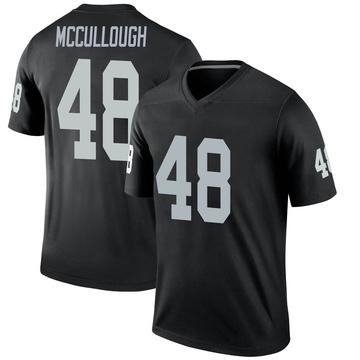 Youth Nike Las Vegas Raiders Liam McCullough Black Jersey - Legend