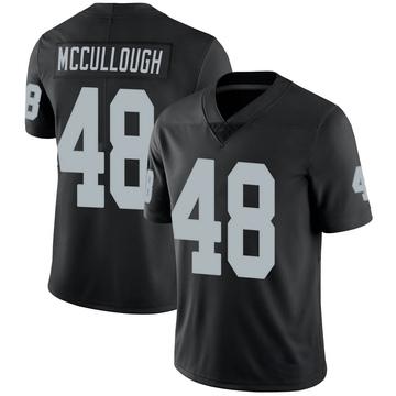 Youth Nike Las Vegas Raiders Liam McCullough Black Team Color Vapor Untouchable Jersey - Limited