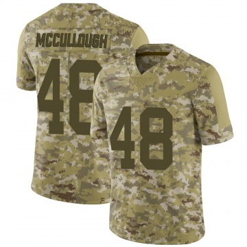 Youth Nike Las Vegas Raiders Liam McCullough Camo 2018 Salute to Service Jersey - Limited