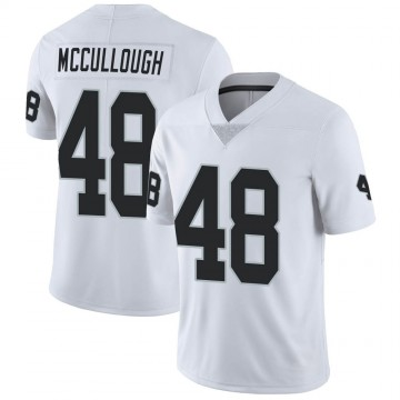Youth Nike Las Vegas Raiders Liam McCullough White Vapor Untouchable Jersey - Limited