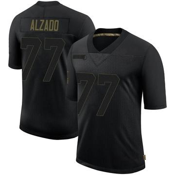 Youth Nike Las Vegas Raiders Lyle Alzado Black 2020 Salute To Service Jersey - Limited