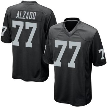 Youth Nike Las Vegas Raiders Lyle Alzado Black Team Color Jersey - Game