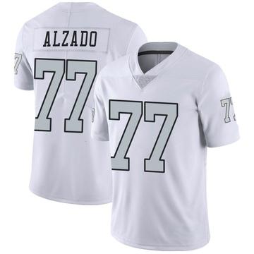 Youth Nike Las Vegas Raiders Lyle Alzado White Color Rush Jersey - Limited