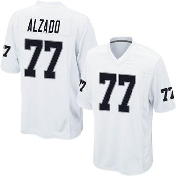 Youth Nike Las Vegas Raiders Lyle Alzado White Jersey - Game