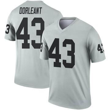Youth Nike Las Vegas Raiders Makinton Dorleant Inverted Silver Jersey - Legend