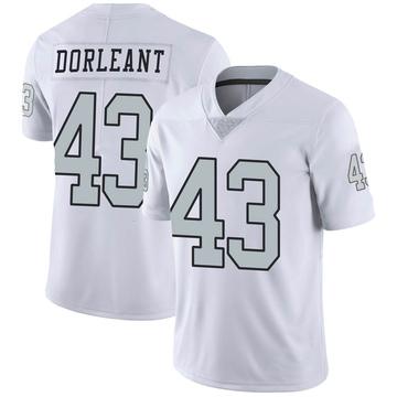 Youth Nike Las Vegas Raiders Makinton Dorleant White Color Rush Jersey - Limited
