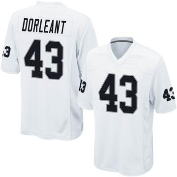 Youth Nike Las Vegas Raiders Makinton Dorleant White Jersey - Game