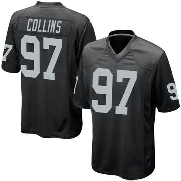 Youth Nike Las Vegas Raiders Maliek Collins Black Team Color Jersey - Game