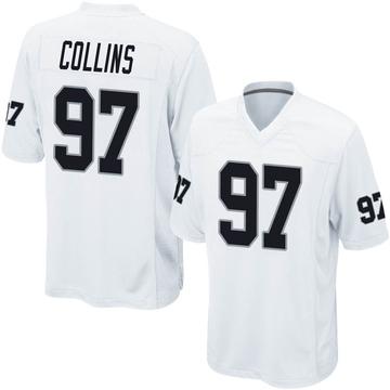Youth Nike Las Vegas Raiders Maliek Collins White Jersey - Game