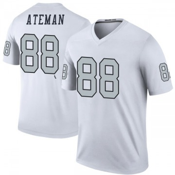 Youth Nike Las Vegas Raiders Marcell Ateman White Color Rush Jersey - Legend