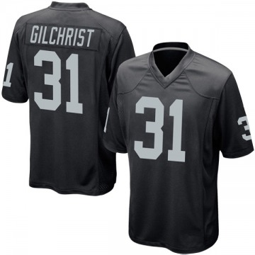 Youth Nike Las Vegas Raiders Marcus Gilchrist Black Team Color Jersey - Game