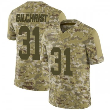 Youth Nike Las Vegas Raiders Marcus Gilchrist Camo 2018 Salute to Service Jersey - Limited