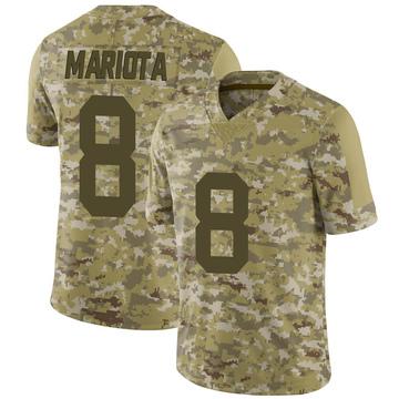 Youth Nike Las Vegas Raiders Marcus Mariota Camo 2018 Salute to Service Jersey - Limited