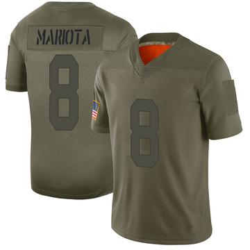 Youth Nike Las Vegas Raiders Marcus Mariota Camo 2019 Salute to Service Jersey - Limited