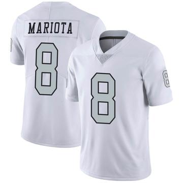 Youth Nike Las Vegas Raiders Marcus Mariota White Color Rush Jersey - Limited