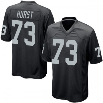 Youth Nike Las Vegas Raiders Maurice Hurst Black Team Color Jersey - Game