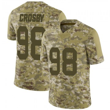 Youth Nike Las Vegas Raiders Maxx Crosby Camo 2018 Salute to Service Jersey - Limited