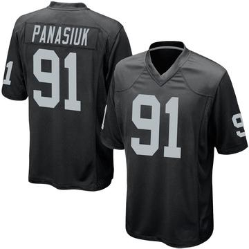 Youth Nike Las Vegas Raiders Mike Panasiuk Black Team Color Jersey - Game
