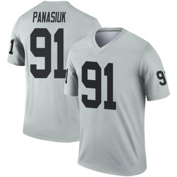 Youth Nike Las Vegas Raiders Mike Panasiuk Inverted Silver Jersey - Legend