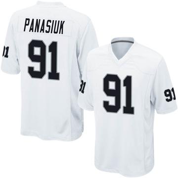 Youth Nike Las Vegas Raiders Mike Panasiuk White Jersey - Game