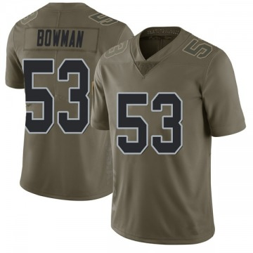 Youth Nike Las Vegas Raiders NaVorro Bowman Green 2017 Salute to Service Jersey - Limited