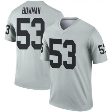 Youth Nike Las Vegas Raiders NaVorro Bowman Inverted Silver Jersey - Legend