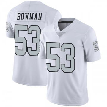 Youth Nike Las Vegas Raiders NaVorro Bowman White Color Rush Jersey - Limited