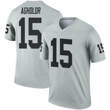 Youth Nike Las Vegas Raiders Nelson Agholor Inverted Silver Jersey - Legend