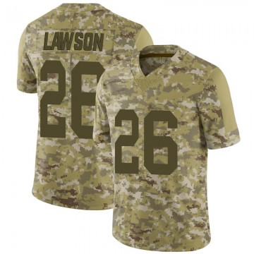 Youth Nike Las Vegas Raiders Nevin Lawson Camo 2018 Salute to Service Jersey - Limited