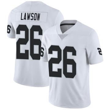 Youth Nike Las Vegas Raiders Nevin Lawson White Vapor Untouchable Jersey - Limited