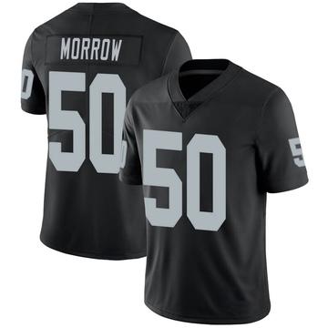 Youth Nike Las Vegas Raiders Nicholas Morrow Black 100th Vapor Jersey - Limited