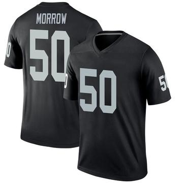 Youth Nike Las Vegas Raiders Nicholas Morrow Black Jersey - Legend