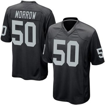 Youth Nike Las Vegas Raiders Nicholas Morrow Black Team Color Jersey - Game