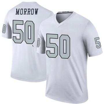 Youth Nike Las Vegas Raiders Nicholas Morrow White Color Rush Jersey - Legend