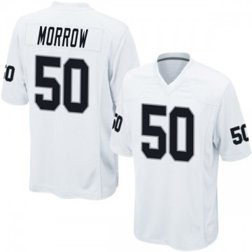 Youth Nike Las Vegas Raiders Nicholas Morrow White Jersey - Game