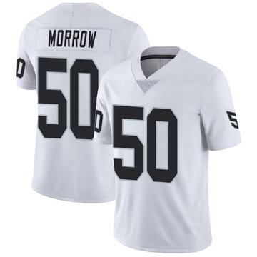 Youth Nike Las Vegas Raiders Nicholas Morrow White Vapor Untouchable Jersey - Limited