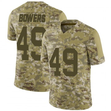 Youth Nike Las Vegas Raiders Nick Bowers Camo 2018 Salute to Service Jersey - Limited