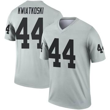 Youth Nike Las Vegas Raiders Nick Kwiatkoski Inverted Silver Jersey - Legend
