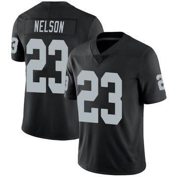 Youth Nike Las Vegas Raiders Nick Nelson Black 100th Vapor Jersey - Limited
