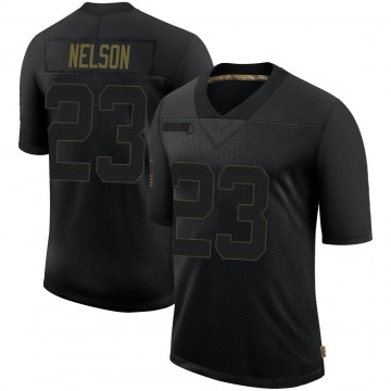 Youth Nike Las Vegas Raiders Nick Nelson Black 2020 Salute To Service Jersey - Limited