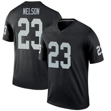 Youth Nike Las Vegas Raiders Nick Nelson Black Jersey - Legend