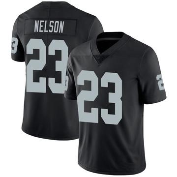 Youth Nike Las Vegas Raiders Nick Nelson Black Team Color Vapor Untouchable Jersey - Limited