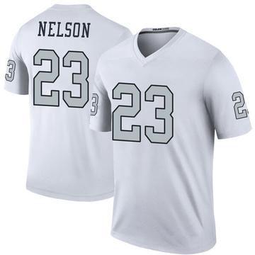 Youth Nike Las Vegas Raiders Nick Nelson White Color Rush Jersey - Legend